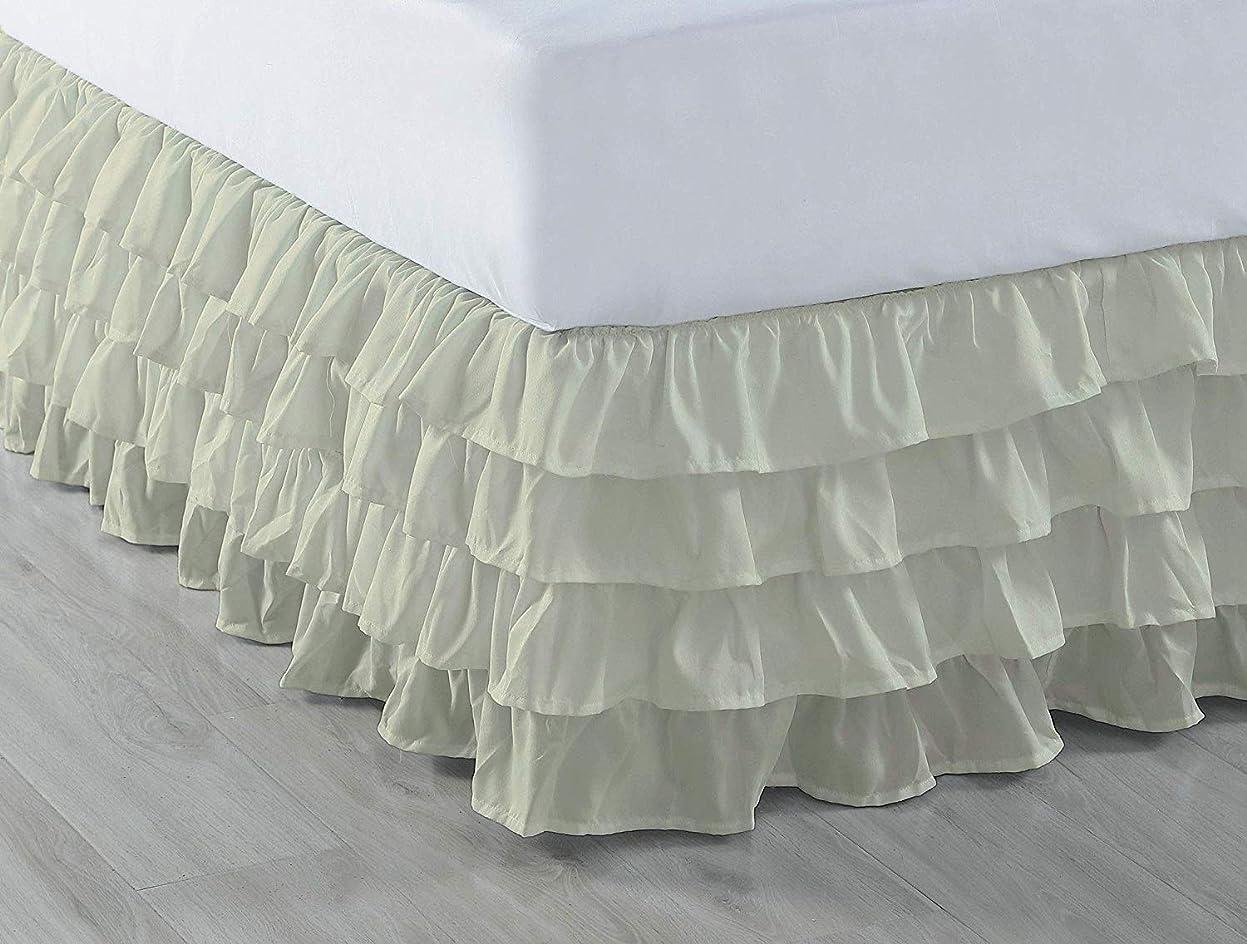 コピーペルーワームKotton Culture 豪華なホテルコレクション 600スレッドカウント エジプト綿100% ベッドスカート 45.72cm ドロップ アイボリークイーン 無地 (スプリットコーナーベッドスカート) Queen (18 Inch Drop) 459MRBDSO186TCAIvoryQ