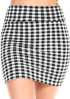 03ed29314 Fashionazzle Women's Casual Stretchy Bodycon Pencil Mini Skirt