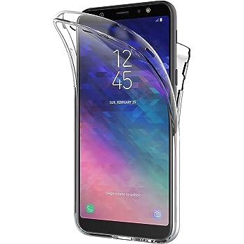 AICEK Funda Samsung Galaxy A6 2018, Transparente Silicona 360°Full ...