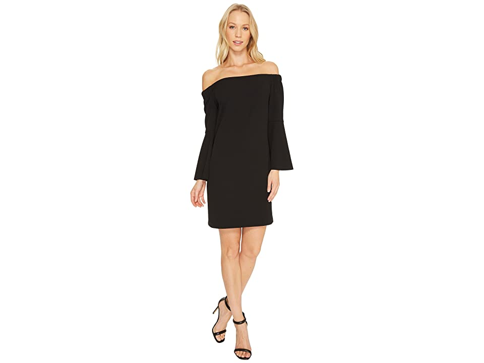 CeCe Hadley Bell Sleeve Off Shoulder (Rich Black) Women