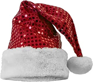 Home for the Holidays Sequin Santa Hats