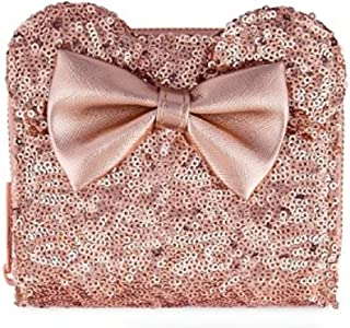 Disney Loungefly Rose Gold Wallet Sequin Minnie Wallet