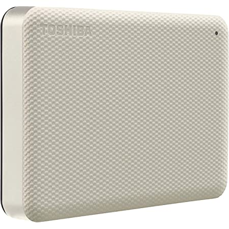 Toshiba Canvio Advance 4TB Portable External Hard Drive USB 3.0, White - HDTCA40XW3CA