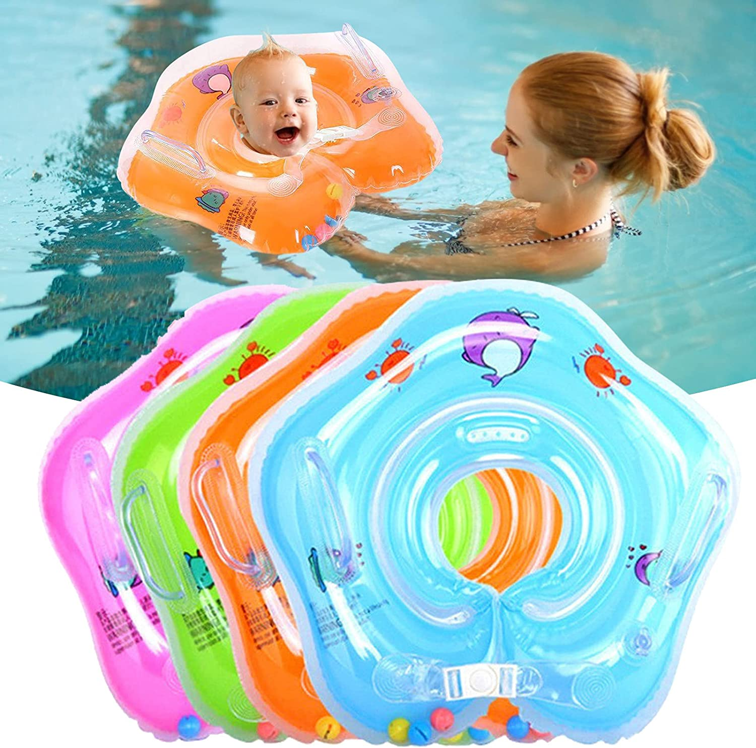 coersd Baby Swimming Ring Floats Double Rare Seat Airbag with Miami Mall Safety