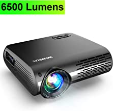 Projector, WiMiUS Upgrade 6500 Lumens Projector Native 1920×1080 Video Projector..
