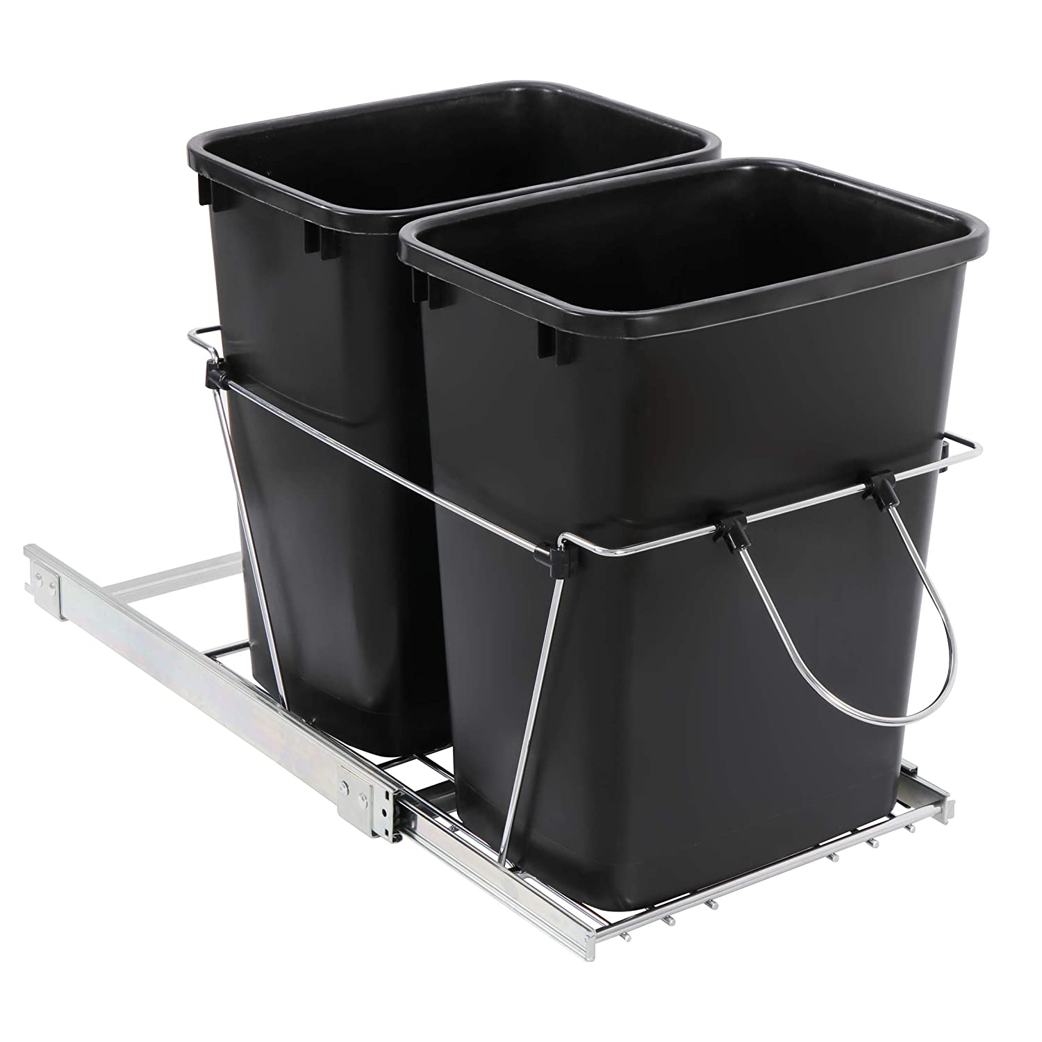 SUPER Limited price sale DEAL Easy-to-use Double Pullout Trash Can Counter Under Quart 35 Slidi