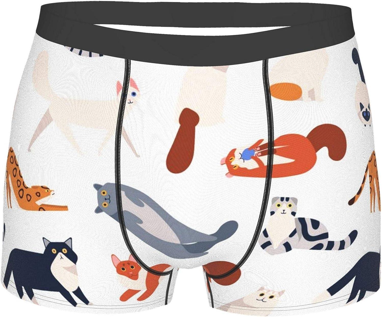 Men's Underwear Boxer Briefs No Ride-up Sport Trunks Microfiber Breathable Underpants for Men