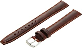 Hadley-Roma Men's MSM881XA-160 16-mm Black Oil-Tan Leather Watch Strap