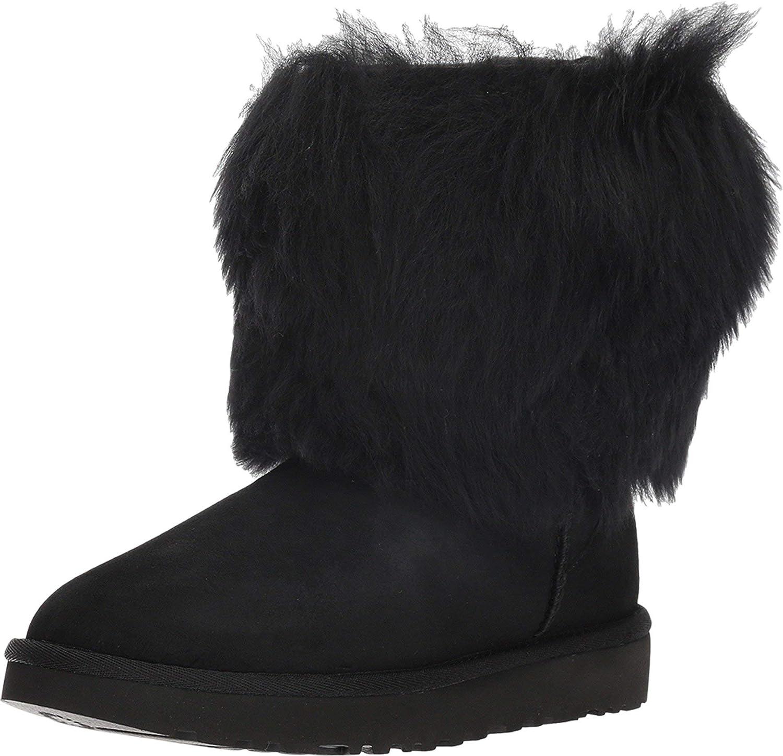 UGG Short Sheepskin Cuff Boot Black