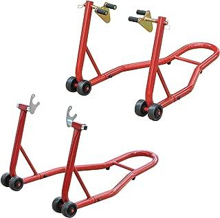 Akozon Kick Soporte de pie lateral ajustable marco de soporte de estacionamiento de moto universal 155 2015-2016 125