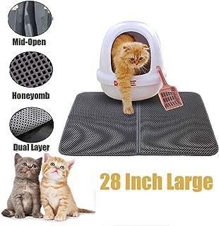 CLORIS Large EVA Cat Litter Mat, 28 in Litter Trapping Mat Litter Locker cat mat, Cat Litter Box Mat Scatter Control,Dual Layer Honeycomb Design, Washable Waterproof