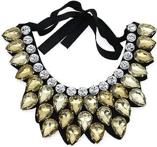 PSNECK Exaggerate Crystal Big Necklace Hi-Q Collar Fashion Statement Maxi