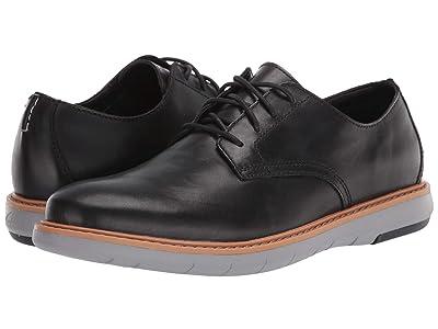 Clarks Draper Lace (Black Leather w/ Grey Outsole) Men
