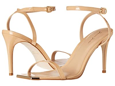 Massimo Matteo Gold Tip Heeled Sandal (Nude) Women
