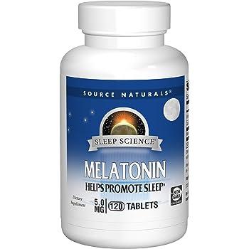 Source Naturals Sleep Science Melatonin 5 mg Helps Promote Sleep - 120 Tablets