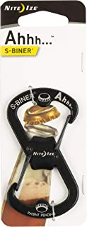 Nite Ize Ahhh Dual Bottle Opener, S-Biner Dual Carabiner with Double-Sided Bottle Openers, Black