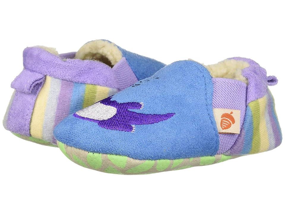 Acorn Kids Easy On Moc Tots (Infant) (Ocean Blue Otter) Girls Shoes