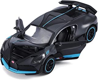 haomsj Bugatti Divo Diecast Metal Model Cars for Boy Toys Age 3-12 Pull Back Vehicles with Music Doors and Hood Can Be Opened(Gray)