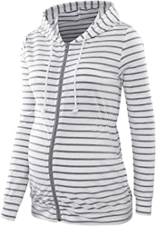 Maternity Tops Hoodie Long Sleeve Open Front Clothes