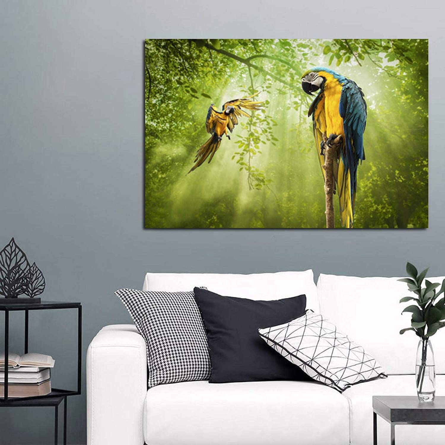 Canvas Paintings Max 56% OFF Animal Posters Pictures Pr Austin Mall Parrot Home Art Wall