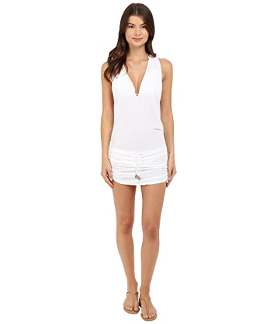 Luli Fama Cosita Buena T-Back Mini Dress Cover-Up (White) Women