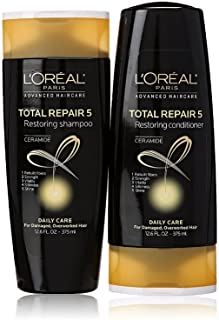 L'Oreal Total Repair 5 Shampoo and Conditioner 12.6 Ounce Each Packaging May Vary