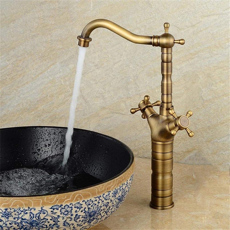 ZTMN UK Antique European Copper Basin Faucet Hot and Cold Sink Faucet