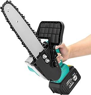 SEAAN - Motosierra eléctrica inalámbrica de 900 W, cortadora manual pequeña, sierra eléctrica de 21 V con guardabarros, para cortar en jardines, granjas, jardín, etc