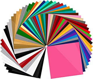 55 Pack Premium Permanent Self Adhesive Vinyl Sheets-Assorted Colors (Glossy, Matte, Brushed) for Other Cutters & Decals 12�x12�