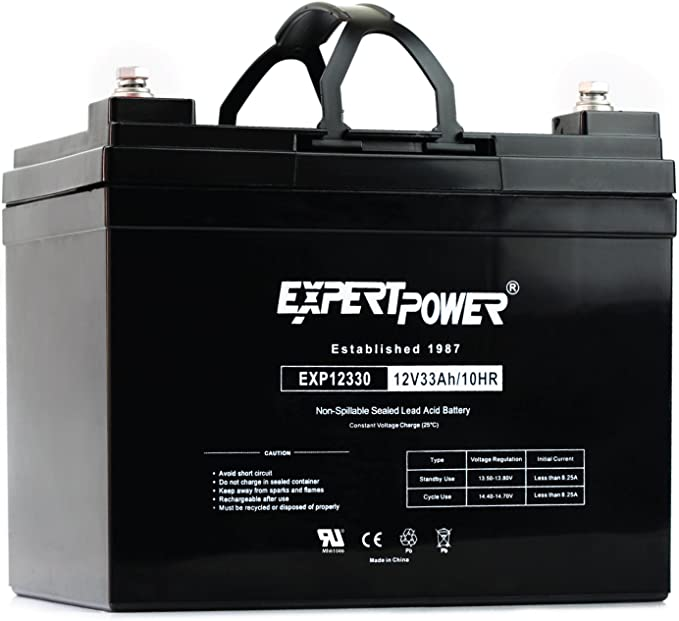 ExpertPower 12v 33Ah Rechargeable Deep Cycle Battery [EXP1233]