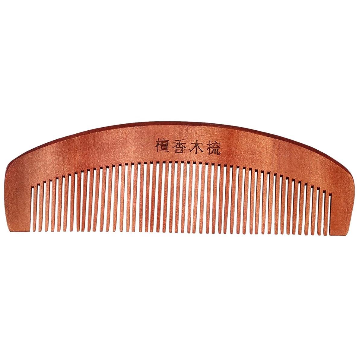 マイクロフォンレプリカ告発くし,SODIAL(R)コーヒー色の香りの良い天然木木製の髪ケア理髪くし5.7