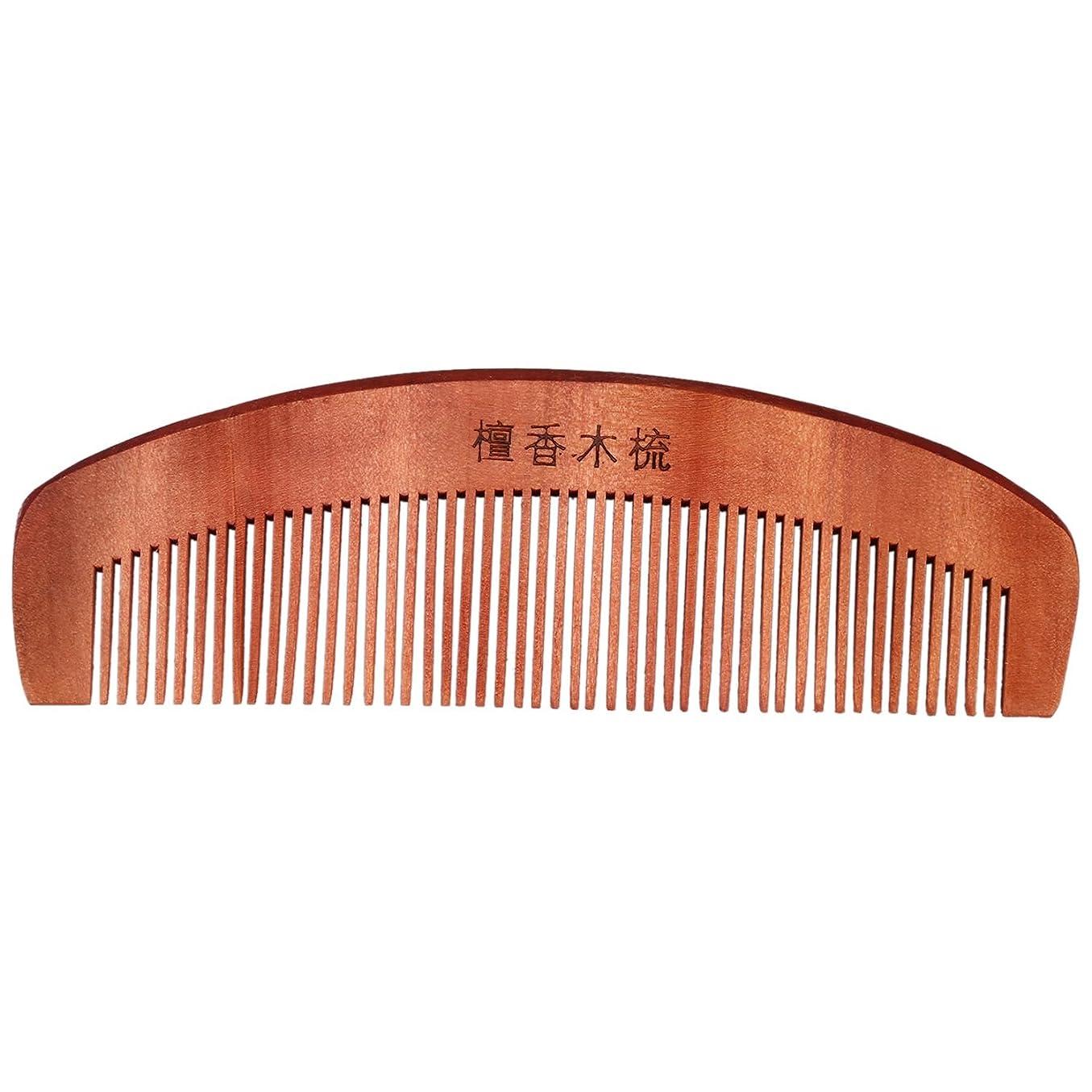 うなずくについてキャビンRETYLY コーヒー色の香りの良い天然木木製の髪ケア理髪くし5.7