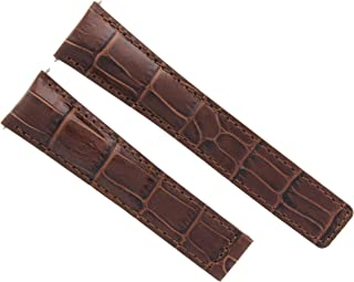 20MM LEATHER WATCH BAND STRAP FOR TAG HEUER CARRERA CALIBRE 6 DEPLOY CLASP BROWN