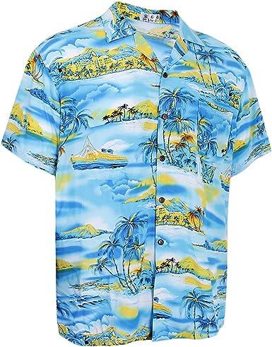 MagiDeal Camisa Hawaiana Macho Shirt Playa Fiesta Hombres ...