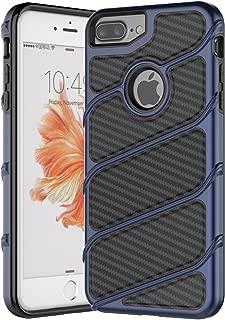 iPhone 7 Plus Case,iPhone 6S Plus Case,Spevert [Carbon Fiber Series] Dual Layer Hybrid Shock Absorption Slim Protective Case Cover for iPhone 7 Plus /6 Plus/6S Plus 5.5 inches - Deep Blue