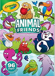 Crayola Animal Friends Coloring Book, 96 Animal Coloring Pages, Gift for Kids, Ages 3, 4, 5, 6