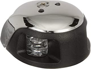 Attwood LED 2-Mile Deck Mount Navigation Bow Light, Stainless Steel, Red/Green