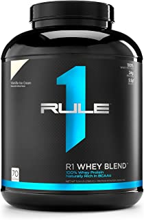 R1 Whey Blend, Rule 1 Proteins (Vanilla Ice Cream, 68 Servings)
