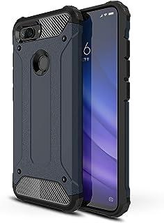 AOBOK Funda Xiaomi Mi 8 Lite, Azul Profundo Moda Armadura Híbrida Carcasa Shock Absorción Proteccion, Anti-Scratch, Funda Case para Xiaomi Mi 8 Lite Smartphone