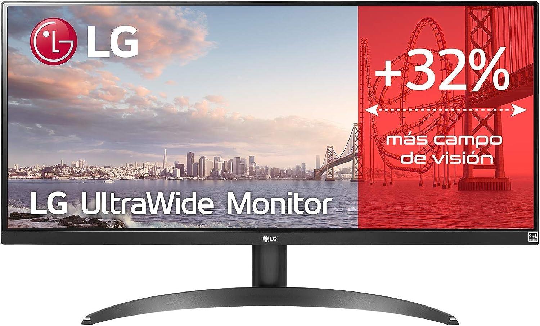 LG 29WP500-B - Monitor Ultrawide LG (Panel IPS: 2560 x 1080, 21:9, 250nits, 1000:1, 75Hz, 5ms, diag. 73 cm, HDR10), negro