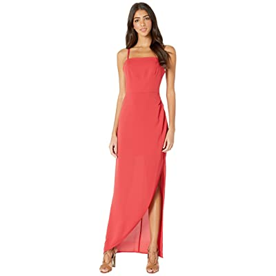 BCBGeneration Evening Strappy Back Woven Dress (American Red) Women