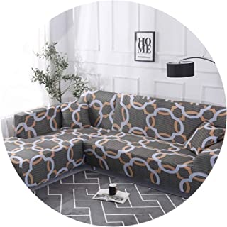 1 Piece/ 2 Pieces Geometric Pattern Sofa Cover for L Shaped Sectional Sofa Couch Cover Sofa Towel cojines decorativos para Sofa,Color 5,1 Seater and 4 Seater
