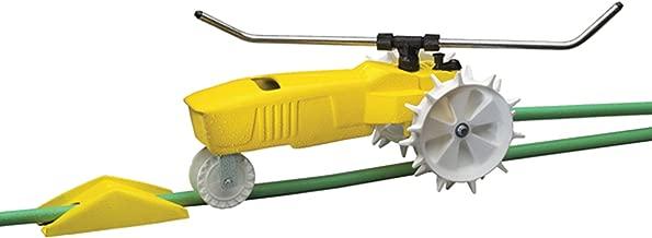 Nelson Traveling Sprinkler RainTrain 13,500 Square feet Yellow 818653-1001