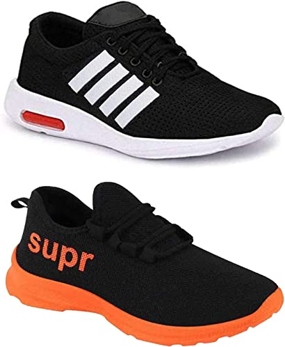 Men Multicolour Latest Collection Sports Running Shoes Pack Of 2 Combo 2 9063 9209