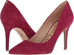 Pomegranate Pink Kid Suede Leather