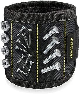 Magnetic Wristband, Kusonkey Tool Belt with 15 Powerful...