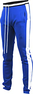brand Mens Hip Hop Premium Slim Fit Track Pants - Athletic Jogger Bottom with Side Taping