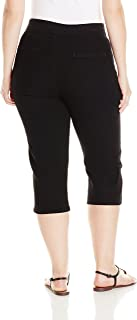 Chic Classic Collection Women's Plus-Size Easy Fit Elastic Waist Pull-On Capri Pant