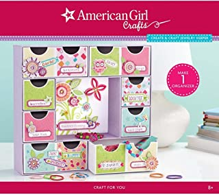 American Girl Crafts Jewelry Box Kit for Girls, 230pc, 3.5'' x 14.2'' x 12.5''