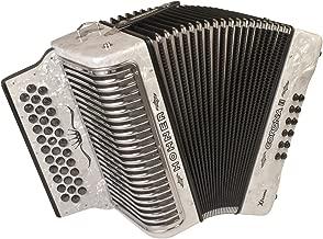 Hohner Corona Xtreme II 34-Button Accordion, FBbEb, Pearl White